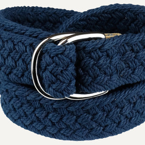 Navy Woven Cotton Belt