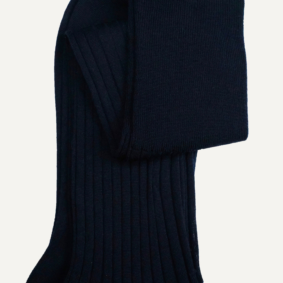 Navy Over-the-Calf Sock
