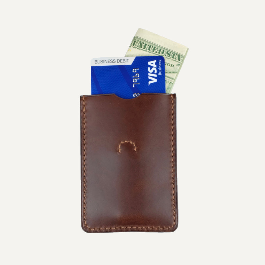 Brown Italian Calfskin Slide Wallet
