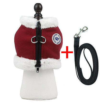 Winter vest harness and leash