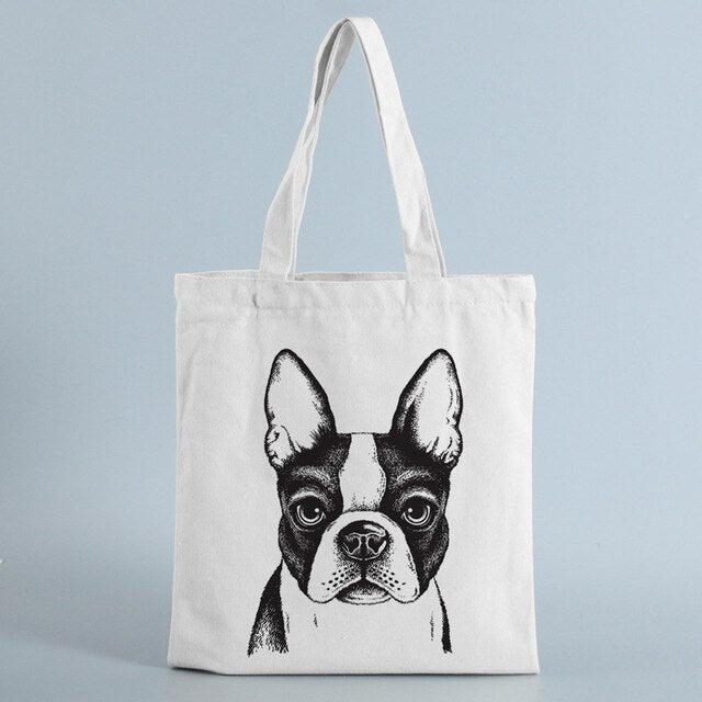 Frenchie Portrait Tote Bag