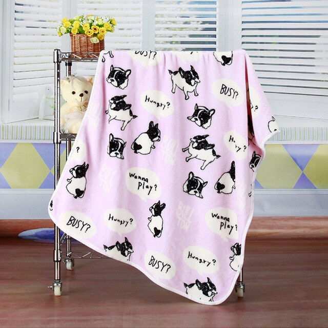 Frenchie Themed Super Soft Blanket