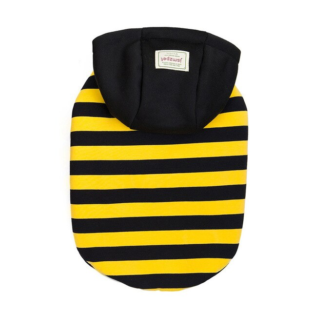Striped Hoodie With Fuzzy Lining