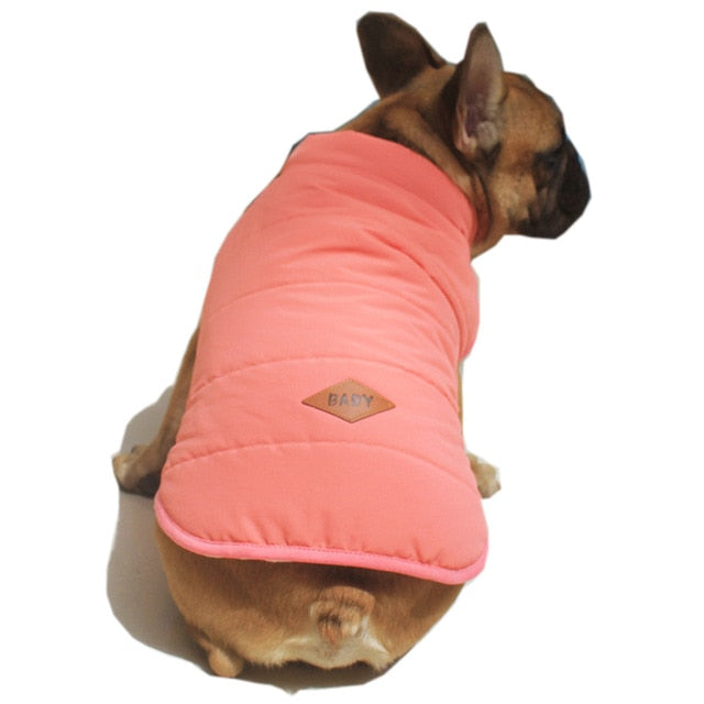 Fashion French Bulldog Vest Jacket Autumn/Winter Warm Pet Dog Clothes for Dogs Soft Cotton Puppy Clothing Pug Coat Pets Apparels