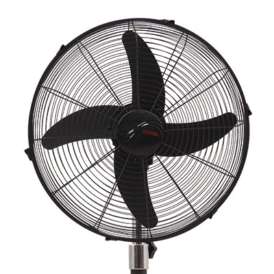 Royal Magnum Black Pedestal Fan