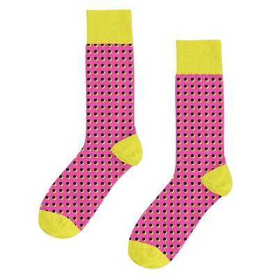 Crazy Dots (Yellow/Pink)