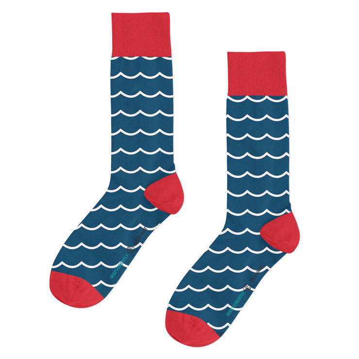 Nautical Waves (Blue/Red)