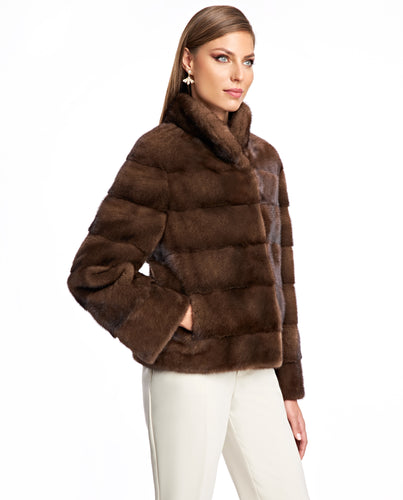Horizontal Mink Jacket