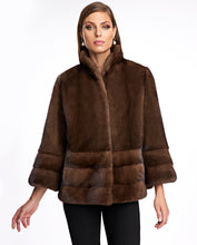 Load image into Gallery viewer, Mink Jacket with Horizontal Hem