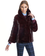 Load image into Gallery viewer, Horizontal Mink Jacket