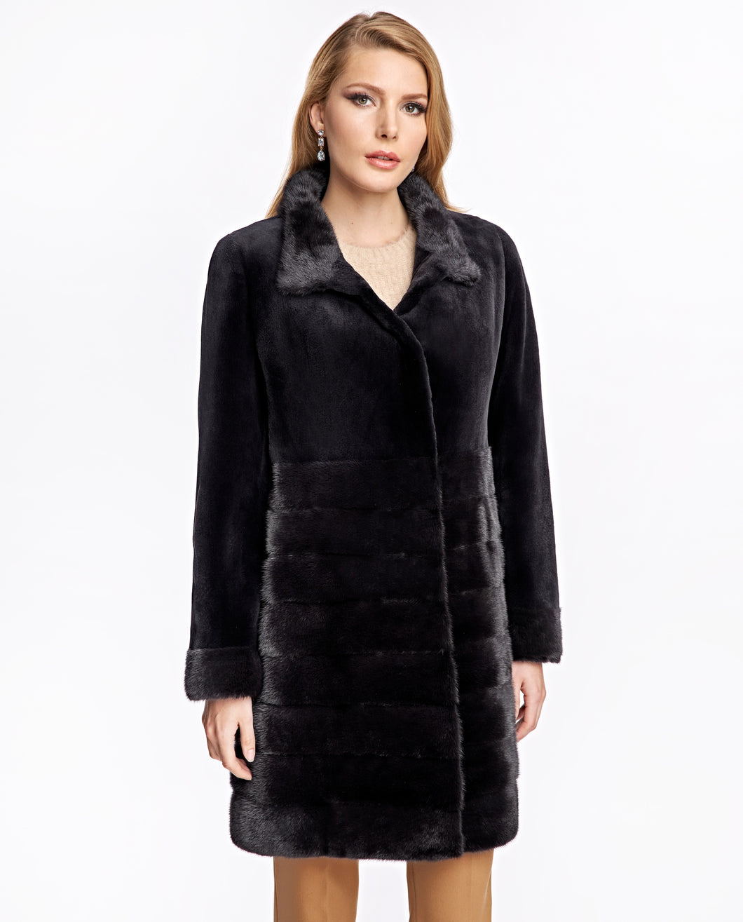 Sheared & Long Hair Mink Coat