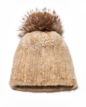 Load image into Gallery viewer, Knitted Mink Hat