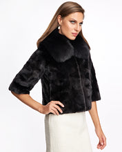 Load image into Gallery viewer, Mink Sections Jacket with Fox Collar