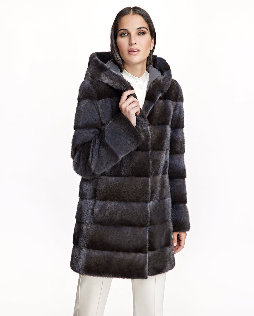 Horizontal Mink Coat