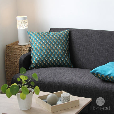 coussin-bleu-paon-housse-protectrice-chat