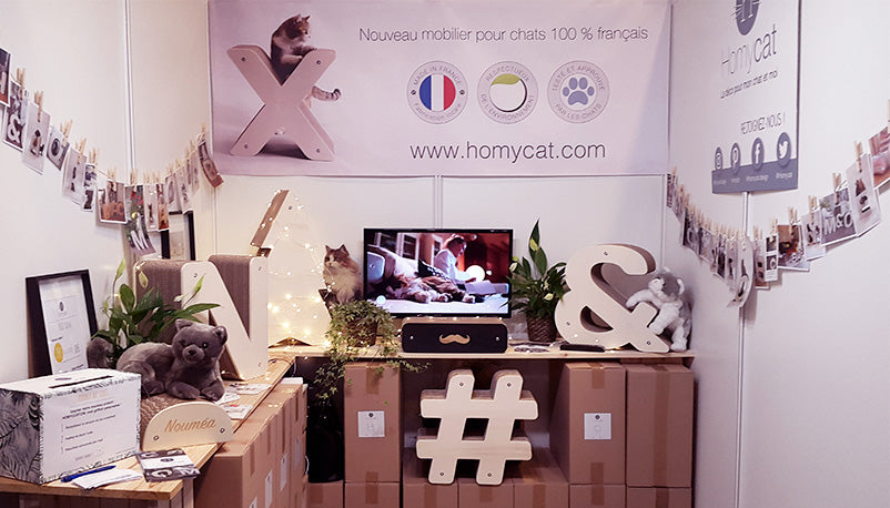 Stand Homycat au salon du Made In France