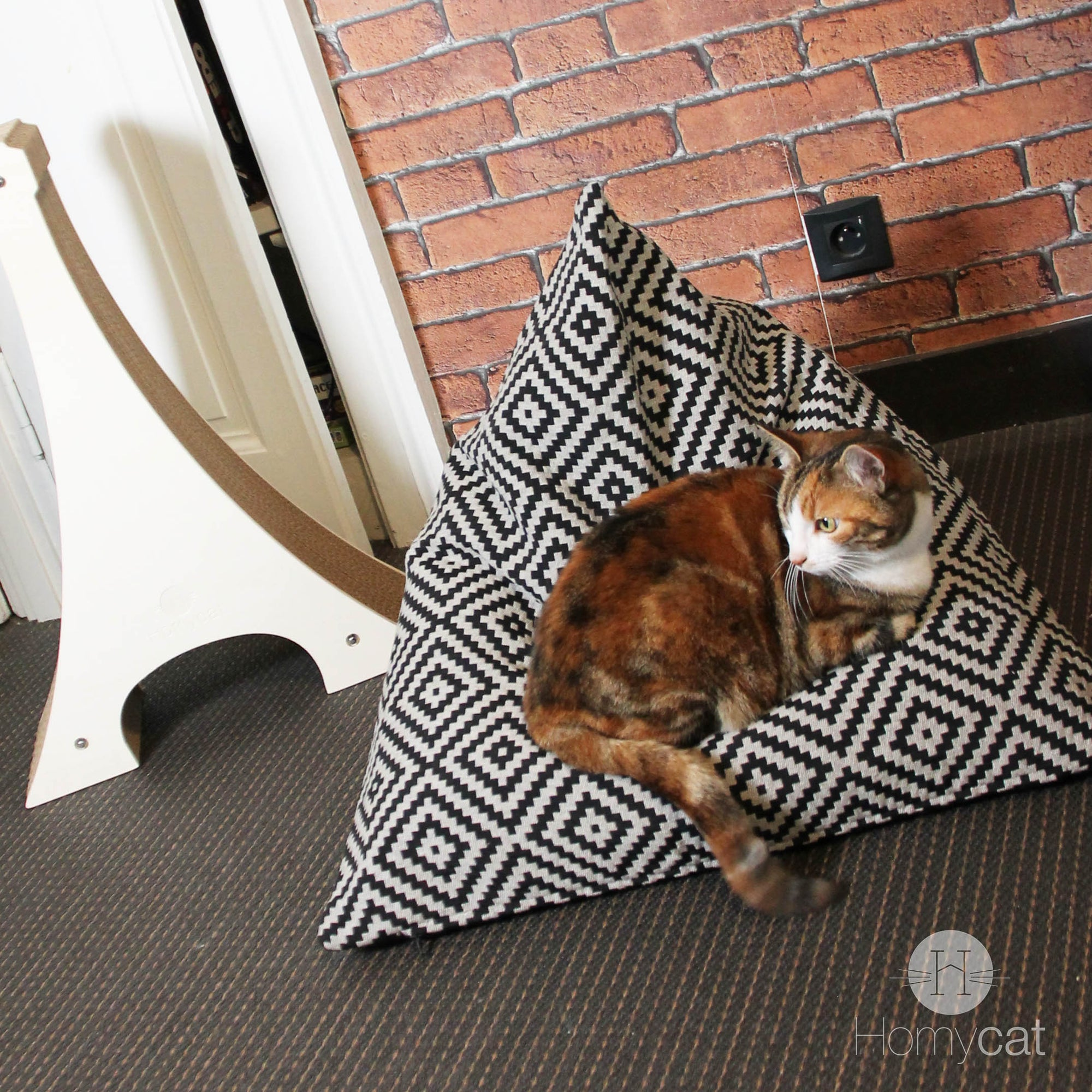 Coussins Berlingot - Couchage pouf chat design