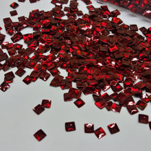 Load image into Gallery viewer, Red Square 3D Glitter