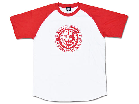 Lion Mark Classic Raglan T-shirt (Red)【Imported】