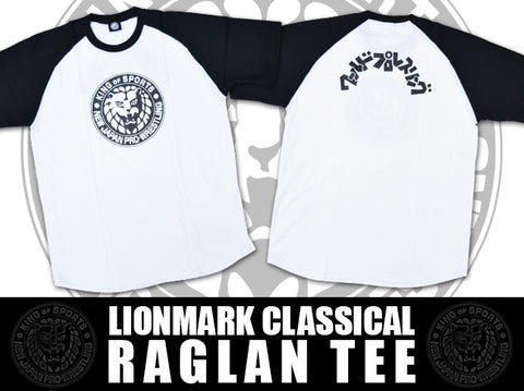 Lion Mark Classic Raglan T-shirt (Black)【Imported】