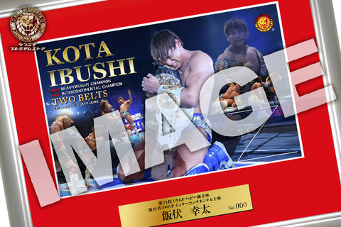 Kota Ibushi Photo Frame 2021.1.4,1.5 IWGP Heavy & Intercontinental Double Champion