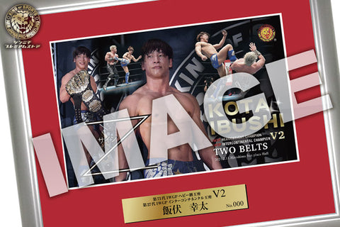 Kota Ibushi 2021.2.11 IWGP & Intercontinental 2 crown V2 Photo frame [Pre-Order]