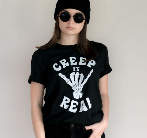 Nu goth creep it real skeleton t-Shirt