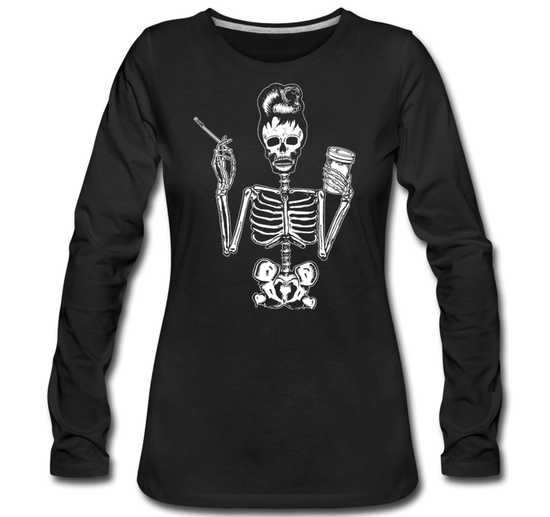 Nu Goth Skeleton Breakfast at Tiffany's T-Shirt