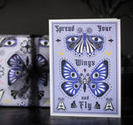 Goth Moth and Butterfly Patterned Birthday Card