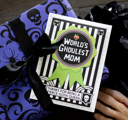 Goth Ghoul  World's Best Spooky MOther's Day Card