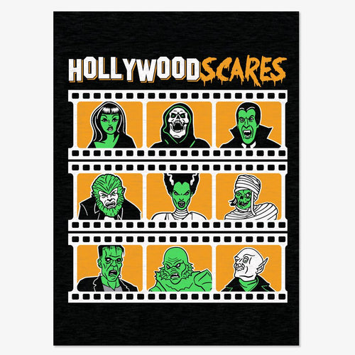 Hollywood Scares Long Sleeve T-Shirt - charcoal gray
