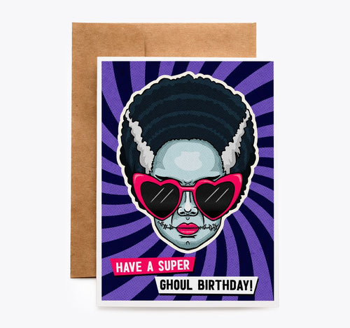 Bride of Frankenstein Birthday card