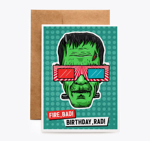 Frankenstein Birthday Card