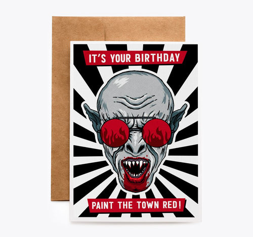 Nosferatu Vampire Birthday Card