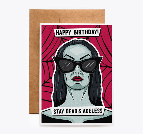 Vampira Vampire Birthday Card