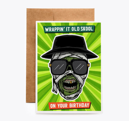 Mummy Rapper Old Skool Birthday Card