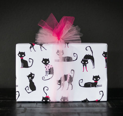 Black Cat Love Gift wrap