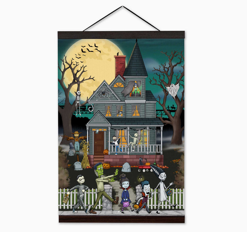 Spooky Cat - Spooky Merchandise, Wall Art Clothing, T-shirts, Greeting Cards, and more.