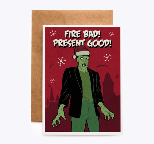 Frankenstein Christmas Holiday Card