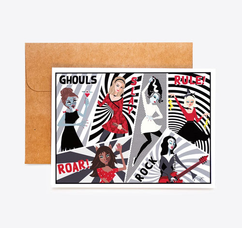 Ghoulish greeting card Ghouls Rule