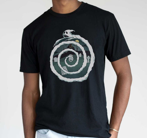 Nu Goth T Shirt - Ghost Spiral - Mens
