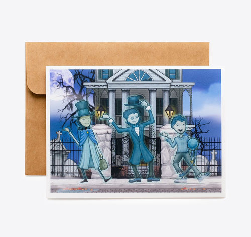 Spooky Cat Homage Card - Hitchhiking Kids