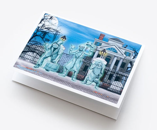 Hitchhiking Ghosts Homage Greeting Card