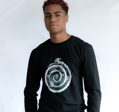 Ghost Spiral Long Sleeve T-Shirt - black