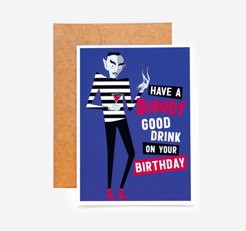Vampire Birthday Card Nosferatu
