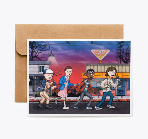 Stranger Things Homage Greeting Card