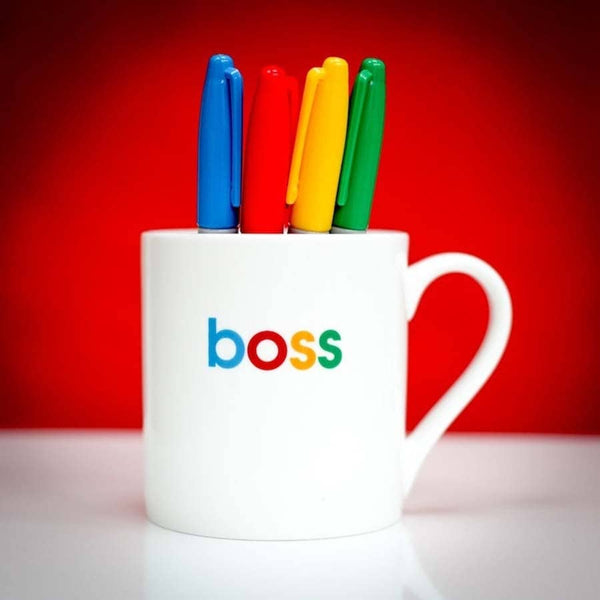 Boss Slogan Porcelain Mug