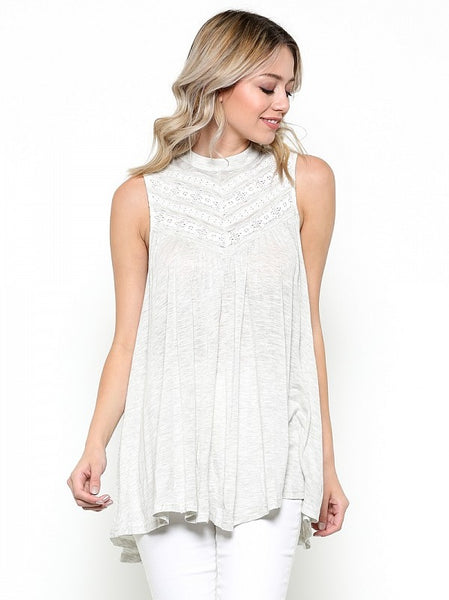 Get In Line Lace Top