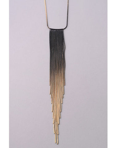Fringe Metallic Necklace