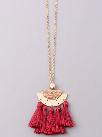 Medallion Tassel Necklace
